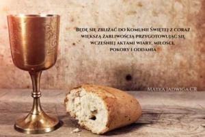 Będę się zbliżać do Komunii Świętej z coraz większą żarliwością przygotowując się wcześniej aktami wiary, miłości, pokory i oddania (Copy)